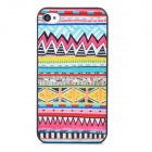 Relief Tribal Ethnic Style Protective Plastic Back Case for Iphone 4 - Multicolor
