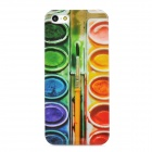 Paint Color Box Style Protective Plastic Back Case for Iphone 5 - Green + Blue + Yellow