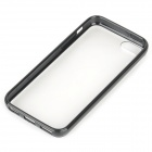 Protective Frosted Plastic Back Case for Iphone 5C - Black + Translucent White