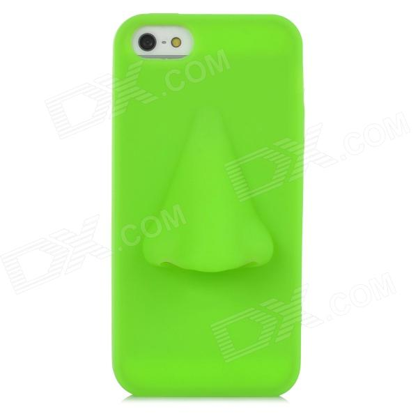Big Nose Style Protective Silicone Back Case for Iphone 5 - Green