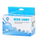 USB Powered 18-LED White Eye-Protection Table Light w/ Clip / US Plug - White + Silver (3 x AAA)