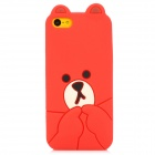 Cute Bear Style Protective Silicone Back Case for Iphone 5C - Red