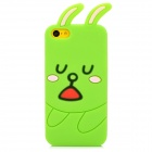 Sleepy Rabbit Style Protective Silicone Back Case for Iphone 5C - Green + Pink