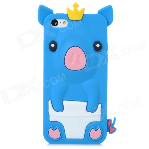все цены на Crown Pig Style Protective Silicone Back Case for Iphone 5C - Blue онлайн