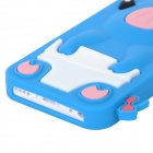 Crown Pig Style Protective Silicone Back Case for Iphone 5C - Blue