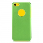 Protective Aluminum Alloy Back Case for Iphone 5C - Green