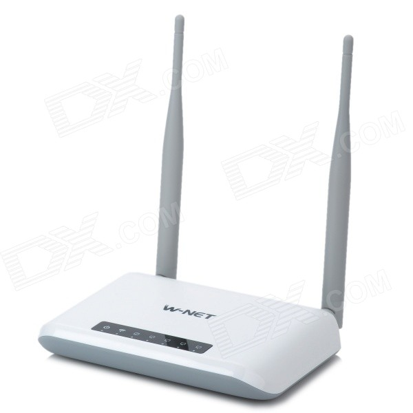 W-NET U700 2.4GHz 300Mbps Wireless Router w/ Dual Antenna - Black + Light Grey