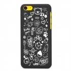 Cartoon Style Protective Plastic Back Case for Iphone 5C - Black