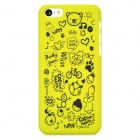 Cartoon Style Protective Plastic Back Case for Iphone 5C - Yellow