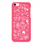 Cartoon Style Protective Plastic Back Case for Iphone 5C - Deep Pink