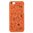 Cute Cartoon Style Protective Plastic Back Case for iPhone 5c - Orange