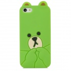 Cute Bear Style Protective Silicone Back Case for Iphone 5C - Green