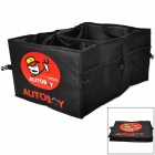 AUTOBOY Folding Oxford Fabric Water Resistant Car Tool Storage Bag - Black + Red