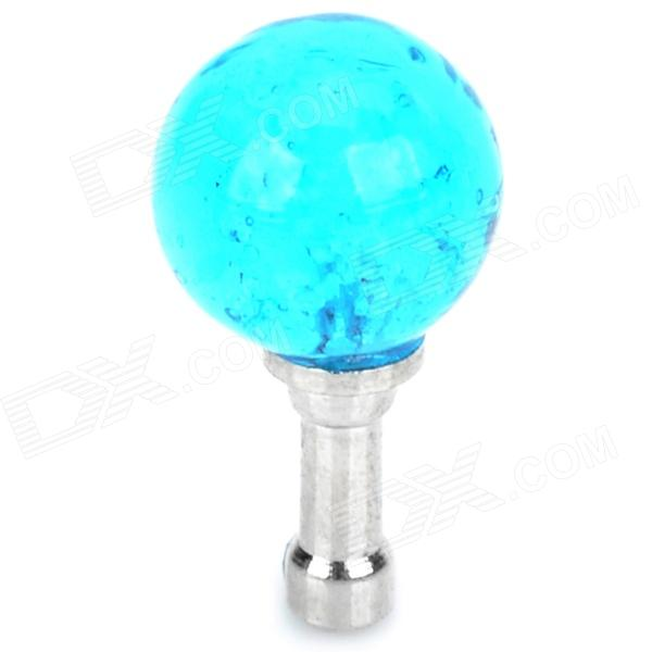 Glow-in-the-Dark 3.5mm Dust-Proof Plug for Iphone 4 / 4S / 5 / 5c - Blue