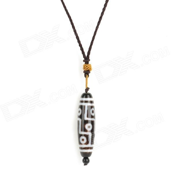 natural-string-chain-dzi-bead-pendant-necklace-black-white