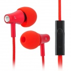 KALAIDENG KE200 In-Ear Earphone w/ Microphone for Iphone / Samsung / Sony / HTC - Red