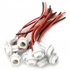 DIY Soft Socket for T10 Bulb - White (10 PCS)