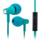 KALAIDENG KE200 In-Ear Earphone w/ Microphone for Iphone / Samsung / Sony / HTC - Green