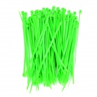 PE plástico Cable Management Ties - Verde (100 PCS)