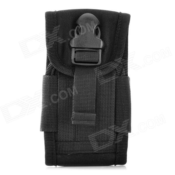 Tactical Outdoor Nylon Mobile Phone Bag for Iphone 5 - Black