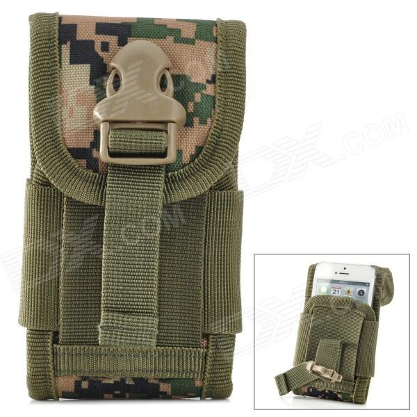 Tactical Outdoor Nylon Mobile Phone Bag for Iphone 5 - Camouflage