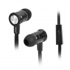 MOSIDUN MSD-216 Plastic In-ear Earphone for Iphone 5 / 4S / 4 - Black (Cable Length-100cm)