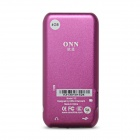 "ONN V2 Sport 1.8"" Screen MP4 Player w/ FM - Deep Pink (4GB)"