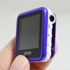 ONN Q6 1.5'' TFT Screen MP4 Player w/ Clip / FM - Purple + White (4GB)