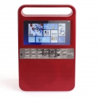 "Katin M5 4.3"" HD Digital Screen Video / Music / E-book / FM Multimedia Player - Red"