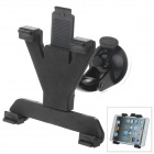 360 Degree Rotation Holder Mount w/ H07 Suction Cup + C60 Back Clamp for 7~10 Inch Tablet PC - Black