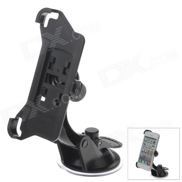 360 Degree Rotation Holder Mount w/ H07 Suction Cup for Iphone 5 - Black h08 360 rotation 4 port suction cup holder w silicone back clip for iphone 4 4s 5 ipad mini ipod