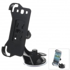 360 Degree Rotation Holder Mount Bracket w/ H07 Suction Cup for Samsung N9300 - Black