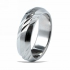 eQute RSSM11C1S9 Vintage Fashionable Titanium Steel Ring for Men - Silver (US Size 9)