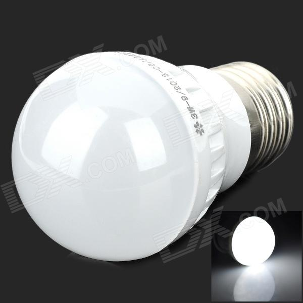 ZX-RL E27 3W 110lm 6500K 9 LED 2835 White Light Bulb - Silver + White