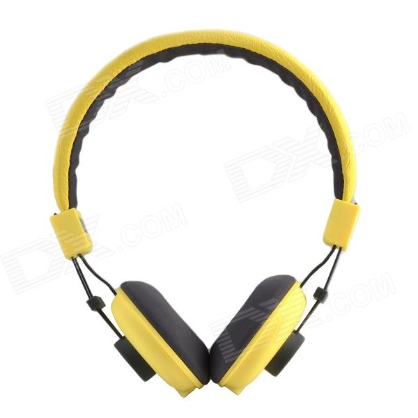 HAVIT HV-H328F Independent Dual Audio Interface Sweetheart Style Music Headphone - Yellow + Grey