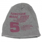 Stylish Number 5 Soft Hat Cap - Grey + Pink
