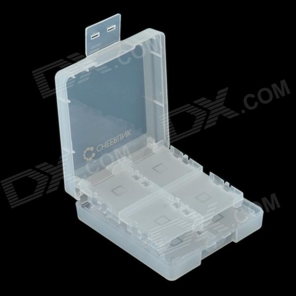 CHEERLINK 16-in-1 Memory Card Storage Case for Nintendo 3DS/ DSI / DSIL / 3DSLL - White