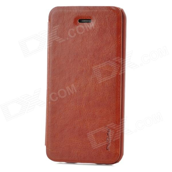 PUDINI WB-IP5C  Protective PU + PC Flip Case for Iphone 5C - Brown