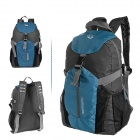 ROSWHEEL 15614 Bicycle Nylon Lightweight Water Resistant Backpack - Blue + Grey