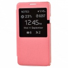 TEMEI Protective PU Leather Case Cover w/ Visual Window for Samsung Galaxy Note 3 N9000 - Pink