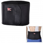 Fitness Warm Nylon + Rubber Waist Support - Black