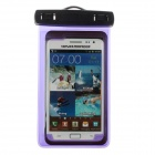 Protective Waterproof Bag Case w/ Strap / Armband for Samsung Note 2 N7100 - Translucent Purple
