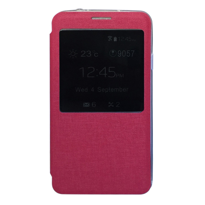 TEMEI Protective PU Leather Case Cover w/ Visual Window for Samsung Galaxy Note 3 N9000 - Deep Pink protective pu leather case cover w visual window for samsung galaxy s3 i9300 deep blue