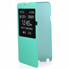 TEMEI Protective PU Leather Case Cover w/ Visual Window for Samsung Galaxy Note 3 N9000 - Green