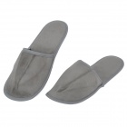 WELLHOUS WH-00201 Travel Portable Velvet + Synthetic Fiber Slippers - Grey (Pair)
