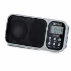"HI-RICE 1.2"" LCD  Portable Media Player Speaker w/ USB 2.0, TF, FM, Clock, Calendar, Torch - White"