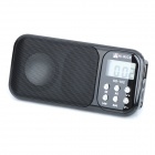 "HI-RICE 1.2"" LCD  Portable Media Player Speaker w/ USB 2.0, TF, FM, Clock, Calendar, Torch - Black"