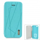 USAMS IP5CXM03 Mond Serie Protective PU + PC Fall für Iphone 5C - Cyan