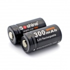 "Soshine LiFePO4 CR2 Rechargeable ""300mAh"" Batteries for Flashlight / Camera - Black (2PCS)"