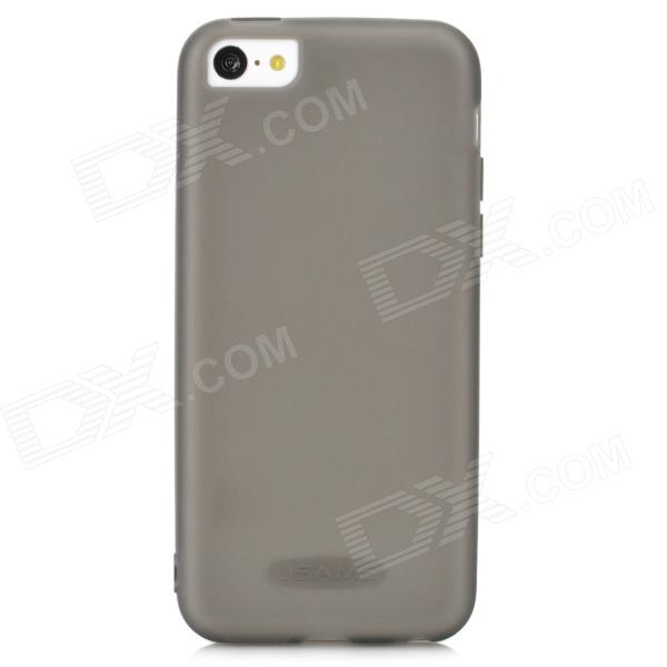 USAMS IP5CGD01 Protective Soft Silicone Back Case for Iphone 5C - Translucent Black stylish protective silicone back case for iphone 5c grey